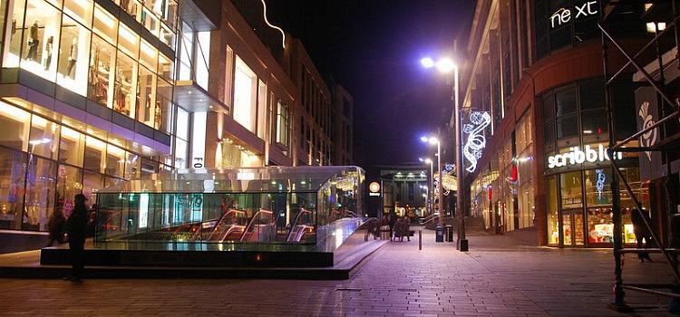 Glasgow bei Nacht